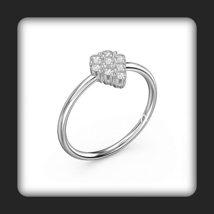 טבעת זהב ויהלומים דגם דאימונדי