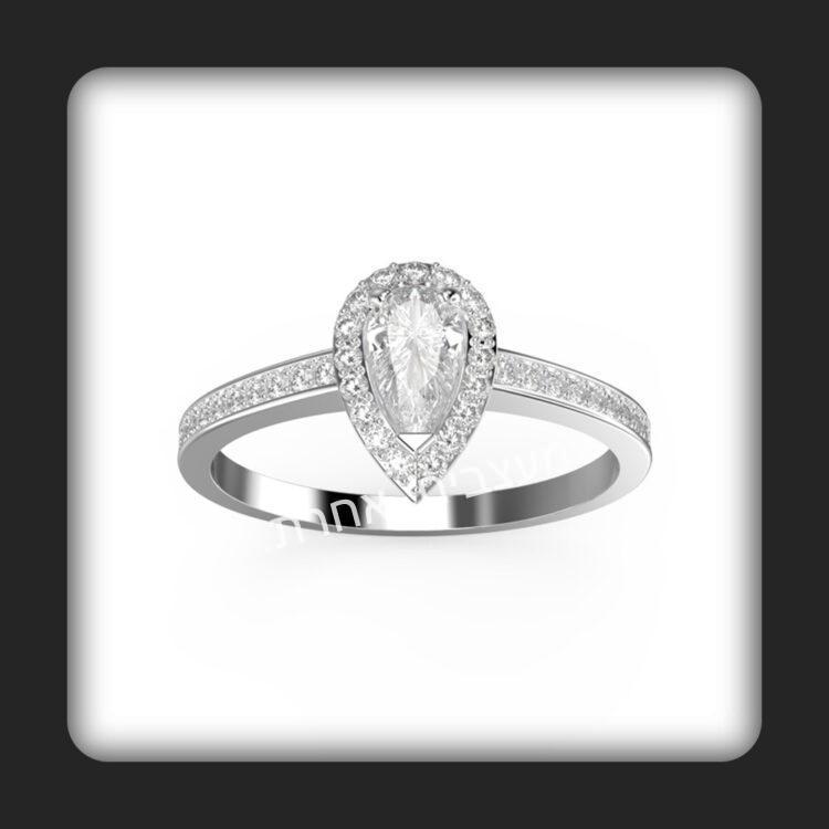 טבעת אירוסין דגם טיפה