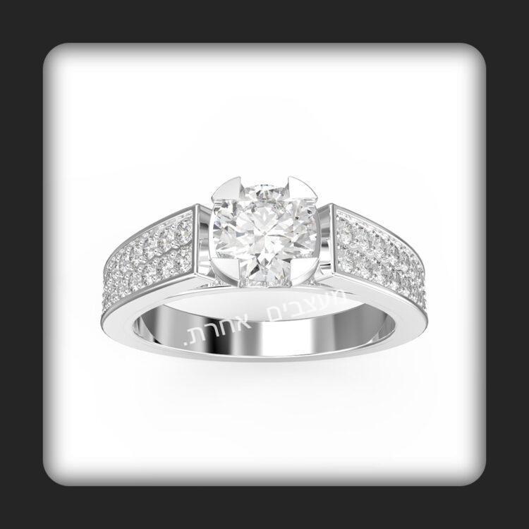 טבעת אירוסין דגם הילה