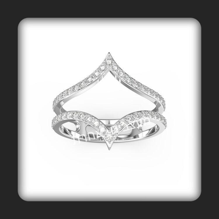 טבעת זהב ויהלומים דגם קאיט