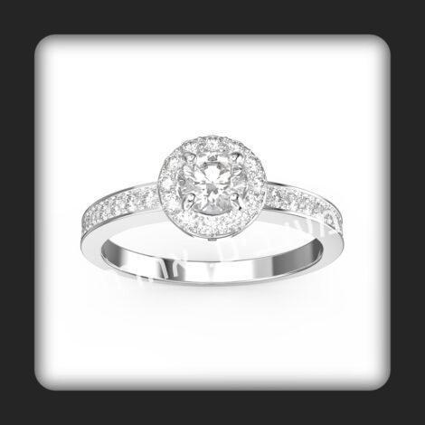 טבעת אירוסין בזהב משובצת יהלומים טבעיים דגם מיקה