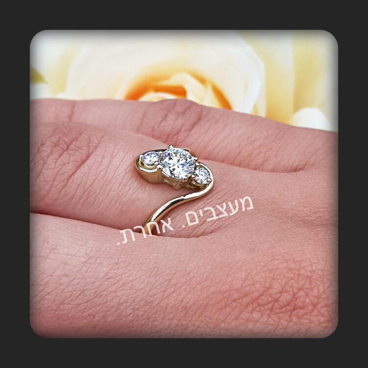 טבעת אירוסין דגם רוטריו.