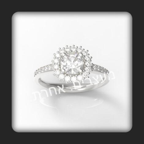 טבעת אירוסין דגם לאב-נט בזהב 14 קראט